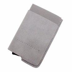 Promo Boshiho Otomatis Pop Up Card Holder Wallet Rfid Blocking Kredit Kartu Case Grey