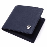 Ulasan Mengenai Bostanten Cowhide Leather Simple Checkbook Card Holder Bifold Wallet For Men Blue Intl