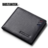 Model Bostanten Men S Genuine Cowhide Leather Wallet 2017 The Newest Bifold Purse Fashion Card Holder Wallet Black Buy One Get One Freebie Intl Terbaru