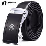 Beli Bostanten Men S Genuine Cow Leather Belts Black With A Gift Box Intl