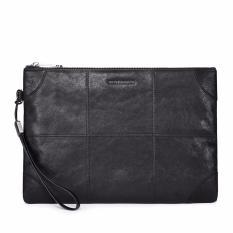 Toko Bostanten Pria Kulit Sapi Asli Zipper Clutch Casual Handbag Dompet Hitam Intl Terlengkap