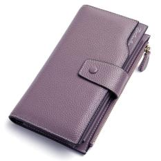 Beli Bostanten Oil Wax Cowhide Genuine Leather Women Wallet Phone Coin Purse Wallet Female Card Holder Lady Clutch Carteira Feminina Intl Cicilan