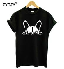 Boston Terrier Anjing Cetak Wanita Kaus Katun Kasual Lucu Kaus untuk Gadis Atasan Kaos Hipster Tumblr Jatuh Kapal HH-46 -Internasional