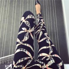 Top 10 Celana Capri Wanita Motif Cetak Kotak Kotak Coretan Kartun Warna Warni Trendi Syal Baju Wanita Celana Wanita Online