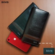 Beli Bovis Df 81 Dompet Pria Long Fashion Wallet 8 Inch Pu Leather Deep Brown Seken