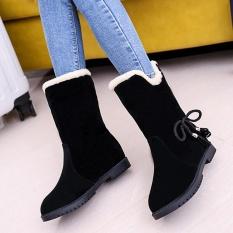 Ikatan Simpul Hangat Flats Sepatu Salju Wanita Boots Musim Gugur Musim  Dingin Sepatu Fashion BK  8ff0938e7e