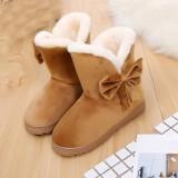 Jual Beli Ikatan Simpul Hangat Wanita Flat Sepatu Salju Wanita Boots Musim Gugur Musim Dingin Sepatu Fashion Bw A Intl Di Tiongkok