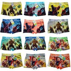 Boxer Anak ukuran XS (5-7 th) Celana Dalam Anak Sempak 1 set 5pcs (Multicolour)