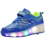 Jual Boy G*rl Led Light Up Roller Wheel Skate Sneaker Sepatu Olahraga Sepatu Boot Intl Antik