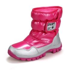 Boy Girls Fashion Winter Boots Karet Berkualitas Tinggi Boots (Merah)-Intl