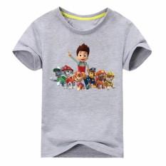 Boy's Girl's T-shirt Kartun Siswa Sekolah Sports Tees Unisex Anak Kartun Anjing Tops Banyak Warna-Intl