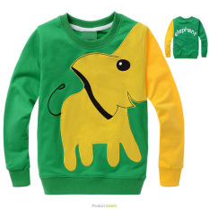 Ulasan Lengkap Boys 3 12 Tahun 85 145 Cm Tubuh Tinggi Kartun Elephant Soft Tipis Katun Hoodie Sweater Warna Hijau Intl Mikanoni