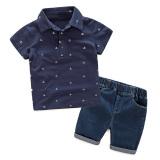 Harga Pakaian Anak Laki Laki Set Kaos Pants Bang Pendek Biru Laut Asli