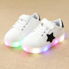 Beli The Boy Fashion Warna Warni Lampu Sepatu Led Flash Kecil Sepatu Putih Intl Murah
