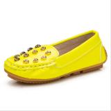 Beli The Boy Wanita Anak Anak Bayi Unisex Pu Tengkorak Pola Kulit Kacang Polong Karet Sepatu Kasual I98 Kuning Seken