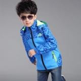 Promo Anak Laki Laki Jaket Kids Hooded Mantel Tipis Aktif Anak Anak Outwear Tahan Air Windproof Biru Intl Quasivim