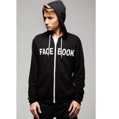 Just Cloth Jaket Hoodie Zipper Facebook J-014 - Hitam