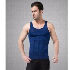 Bp Queen Euro-Men's Slim'N lift Slimming Vest (Blue) (OVERSEAS) - intl