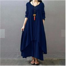 BPS - Dress Wanita Modern Model Syahrini Maxi Jumbo Trendy Daily Use