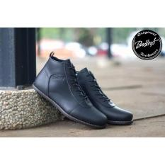 Bradleys Brodo Sepatu Boots Pria - Kulit Asli Black  erudit