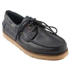 Harga Bradleys Zapato Sepatu Boots Pria Kulit Asli Black New