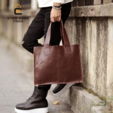 Brand Design New Korean Men's Handbag Old School Single Shoulderbag Picture Package Bag Portable Bag Fashion Leisure Briefcase Coolbag -Black