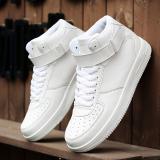 Diskon Brand Designer Pria Sneakers Tinggi Top Sepatu Fesyen Putih Tiongkok