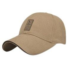 Miliki Segera Merek Golf Logo Bisbol Cap Pria Wanita Katun Kolam Olahraga Kasual Golf Topi For Pria Golf Beige Topi Intl