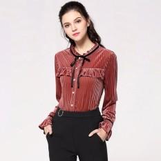 Baru 2018 Spring Wanita's Fashion Solid Color Laced Knit Top Big Ukuran XL-5XL-Intl