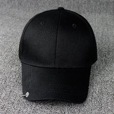 Warna tunggal merek topi Baseball topi untuk pria wanita disesuaikan kasual  kolam topi Snapback (hitam af49c5df0c