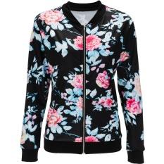 Diskon Merek Tipis Jacket Spring Wanita Flower Kamuflase Cetak Selebriti Pembom Ramping Kerah Berdiri Kasual Mantel Lengan Panjang Pendek Mantel Wanita Ukuran Lebih Internasional Akhir Tahun