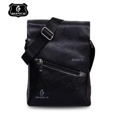 Review Toko Brandys Charlie Man Import Sling Bag Pu Leather Tas Selempang Pria Black Online