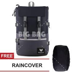 Tas Ransel Braun Fox - Altero 0.01 Dailypack Outdoor Tas Laptop Backpack - Black + FREE Raincover Tas Pria Tas Kerja Tas Fashion Pria