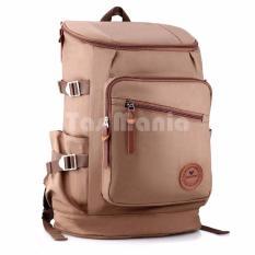 Tas Ransel Braun Fox Shimon Travel Tas Laptop Backpack Outdoor Man Canvas Large Backpacker Man - Coklat Muda Tas Pria Tas Sekolah Dailypack Tas Fashion Pria