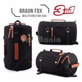 Harga Braun Fox Tas Kanvas Tabung 3In1 Multifungsi Outdoor Man Canvas Backpacker Tas Fitness Gym Olahraga Hitam Tb 31 Termahal