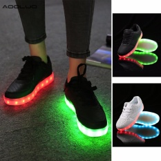 Jual Beli Bernapas Led Light Up Fashion Berkedip Sepatu Sneaker Hitam Intl
