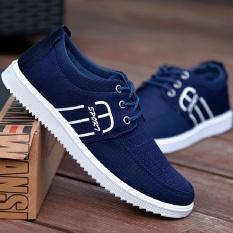 Bernapas Pria Rekreasi Sepatu Pria Mencegah Licin Sandal Sepatu Kanvas Sepatu sneakers Pria Daftar-Intl