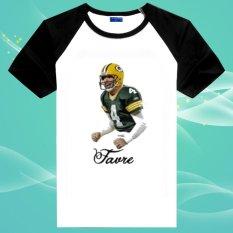 Brett Favre Green Bay American Football 100% Cotton O Leher Unisex Insert Lengan Pendek T Kemeja-Internasional