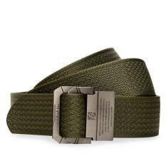 BREWYN Double Metal Buckle Mens Canvas Military Belt /Ikat pinggang pria / Sabuk / Gesper - JIMBO - HIJAU ARMY