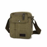 Tips Beli Brewyn Tas Canvas Messenger Multi Compartment James Hijau Army