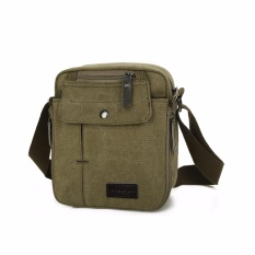 Spesifikasi Brewyn Tas Canvas Messenger Multi Compartment James Hijau Army Yang Bagus