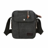 Beli Brewyn Tas Canvas Messenger Multi Compartment James Hitam Online Terpercaya