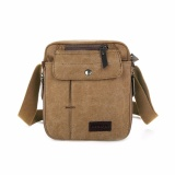 Diskon Brewyn Tas Canvas Messenger Multi Compartment James Khaki Branded