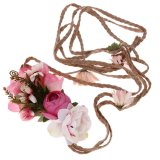 Beli Bride Bohemian Flower Headband Wedding Floral Hair Band Headwear Women Red One Size Intl Nyicil