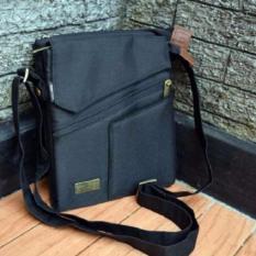 Brillante Brasso Tas Selempang Multifungsi Untuk Hp Tablet Power Bank Black Hitam Murah
