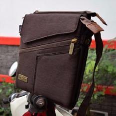 Brillante Brasso Tas Selempang Multifungsi Untuk Hp Tablet Power Bank Brown Coklat Diskon Jawa Barat