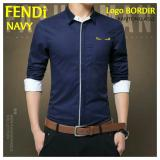 Cara Beli Brilliant Fast On Kemeja Fendy Navy