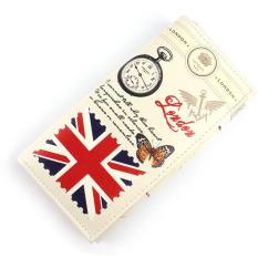 Jual Cepat Bendera Inggris Pola Dompet Panjang Wanita Tas Dompet Genggam Pemegang Kartu