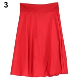 Jual Broadfashion Cincin Musim Panas High Waist Long Garis Pleated Midi Rok Office Ball Dress Xl Merah Intl Murah