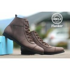 Brodo Boots Sepatu Pria - Sepatu BIkers Pria - CIRCLE